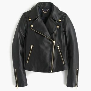 J. Crew Collection Leather Motorcycle Jacket
